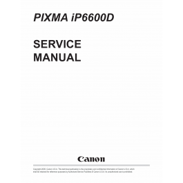 Canon PIXMA iP6600D Service Manual