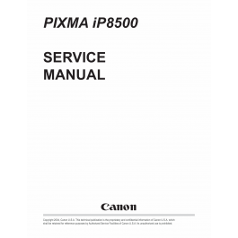Canon PIXMA iP8500 Service Manual