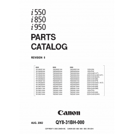 Canon PIXUS i550 i850 i950 Parts Catalog Manual