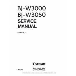Canon Wide-Format-BubbleJet BJ-W3000 W3050 Parts and