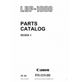 Canon imageCLASS LBP-1000 Parts Catalog Manual