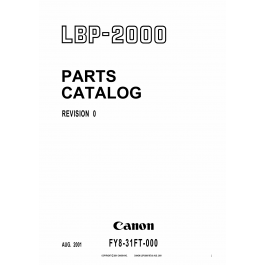 Canon imageCLASS LBP-2000 Parts Catalog Manual