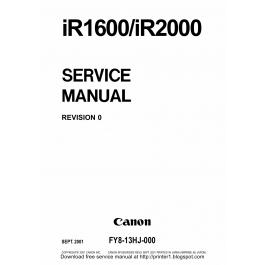 Canon imageRUNNER-iR 1600 2000 Service Manual