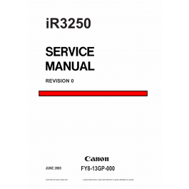 Canon imageRUNNER iR 3250 Parts and Service Manual