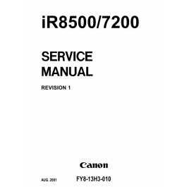 Canon imageRUNNER iR 8500 7200 Parts and Service Manual