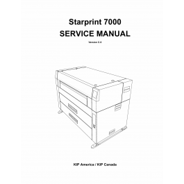 KIP 7000 Parts and Service Manual
