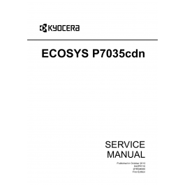 KYOCERA ColorLaserPrinter ECOSYS-P7035cdn Service Manual