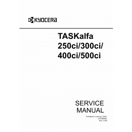 KYOCERA ColorMFP TASKalfa-250ci 300ci 400ci 500ci Parts