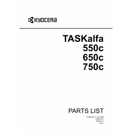 KYOCERA ColorMFP TASKalfa-550c 650c 750c Parts Manual