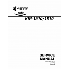 KYOCERA Copier KM-1510 1810 Parts and Service Manual