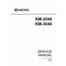 KYOCERA Copier KM-2540 3040 Service Manual