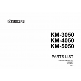 KYOCERA Copier KM-3050 4050 5050 Parts Manual