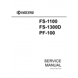 KYOCERA LaserPrinter FS-1100 FS-1300D PF-100 Parts and
