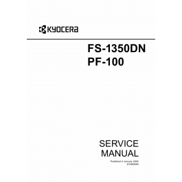 KYOCERA LaserPrinter FS-1350DN PF-100 Parts and Service Manual