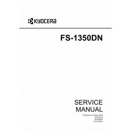 KYOCERA LaserPrinter FS-1350DN Service Manual