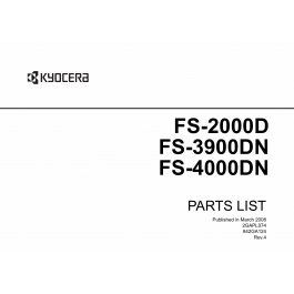 KYOCERA LaserPrinter FS-2000D 3900DN 4000DN Parts Manual