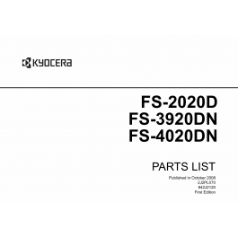 KYOCERA LaserPrinter FS-2020D 3920DN 4020DN Parts Manual