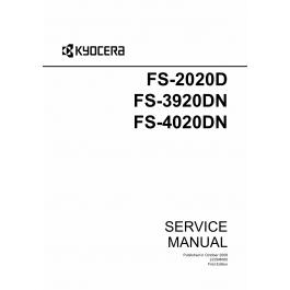 KYOCERA LaserPrinter FS-2020D 3920DN 4020DN Parts and