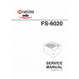 KYOCERA LaserPrinter FS-6020 Parts and Service Manual