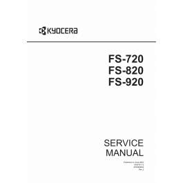 KYOCERA LaserPrinter FS-720 820 920 Service Manual