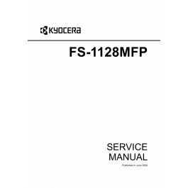 KYOCERA MFP FS-1128MFP Parts and Service Manual