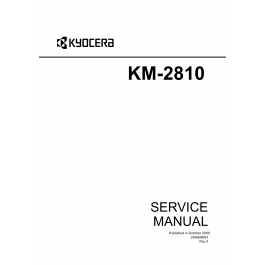 KYOCERA MFP KM-2810 KM-2820 Parts and Service Manual