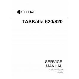 KYOCERA MFP TASKalfa-620 820 Parts and Service Manual