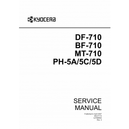 KYOCERA Options Document-Feeder DF-710 BF-710 MT-710 PH-5A