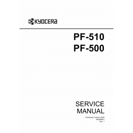 KYOCERA Options Paper-Feeder-PF-500 PF-510 Parts and
