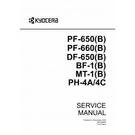 KYOCERA Options Paper-Feeder-PF-650 B PF-660 B DF-650 B BF