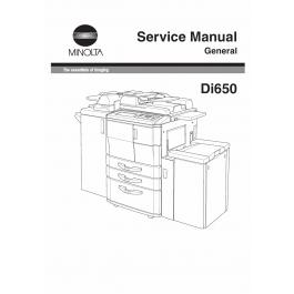 Konica-Minolta MINOLTA Di650 GENERAL Service Manual