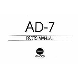 Konica-Minolta Options AD-7 Parts Manual