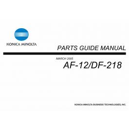 Konica-Minolta Options AF-12 DF-218 Parts Manual