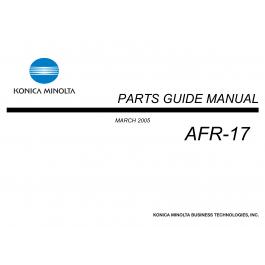 Konica-Minolta Options AFR-17 Parts Manual