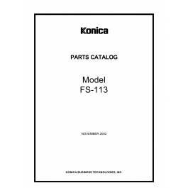 Konica-Minolta Options FS-113 Parts Manual