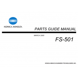 Konica-Minolta Options FS-501 Parts Manual