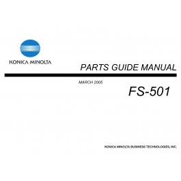 Konica-Minolta Options FS-501 Parts Manual