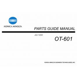 Konica-Minolta Options OT-601 Parts Manual