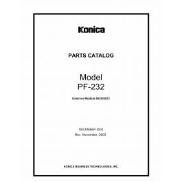 Konica-Minolta Options PF-232 Parts Manual