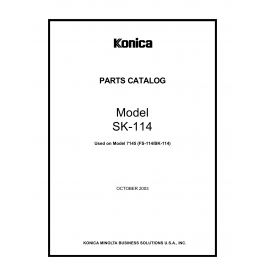 Konica-Minolta Options SK-114 4511 Parts Manual