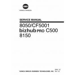 Konica-Minolta bizhub-PRO C500 8050 8150 CF5001 Service Manual