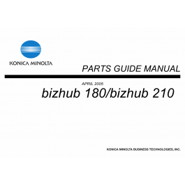 Konica-Minolta bizhub 180 210 Parts Manual