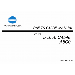 Konica-Minolta bizhub C454e Parts Manual