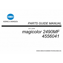 Konica-Minolta magicolor 2490FM Parts Manual