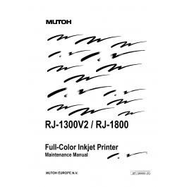 MUTOH RJ 1300V2 1800 MAINTENANCE Service and Parts Manual
