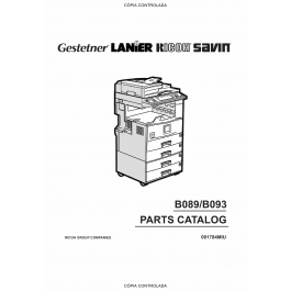 RICOH Aficio 2022 2027 B089 B093 Parts Catalog