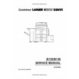 RICOH Aficio 2035e 2045e B135 B182 B138 B183 Service Manual