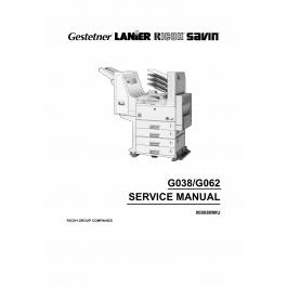 RICOH Aficio AP-2700 AP3200 G038 G062 Parts Service Manual