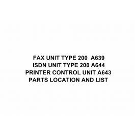 RICOH Options A639 FAX-UNIT-TYPE-200 Parts Catalog PDF