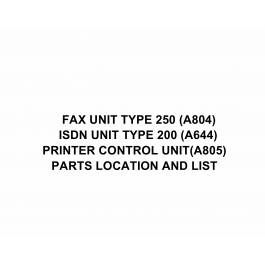 RICOH Options A804 FAX-UNIT-TYPE-250 Parts Catalog PDF